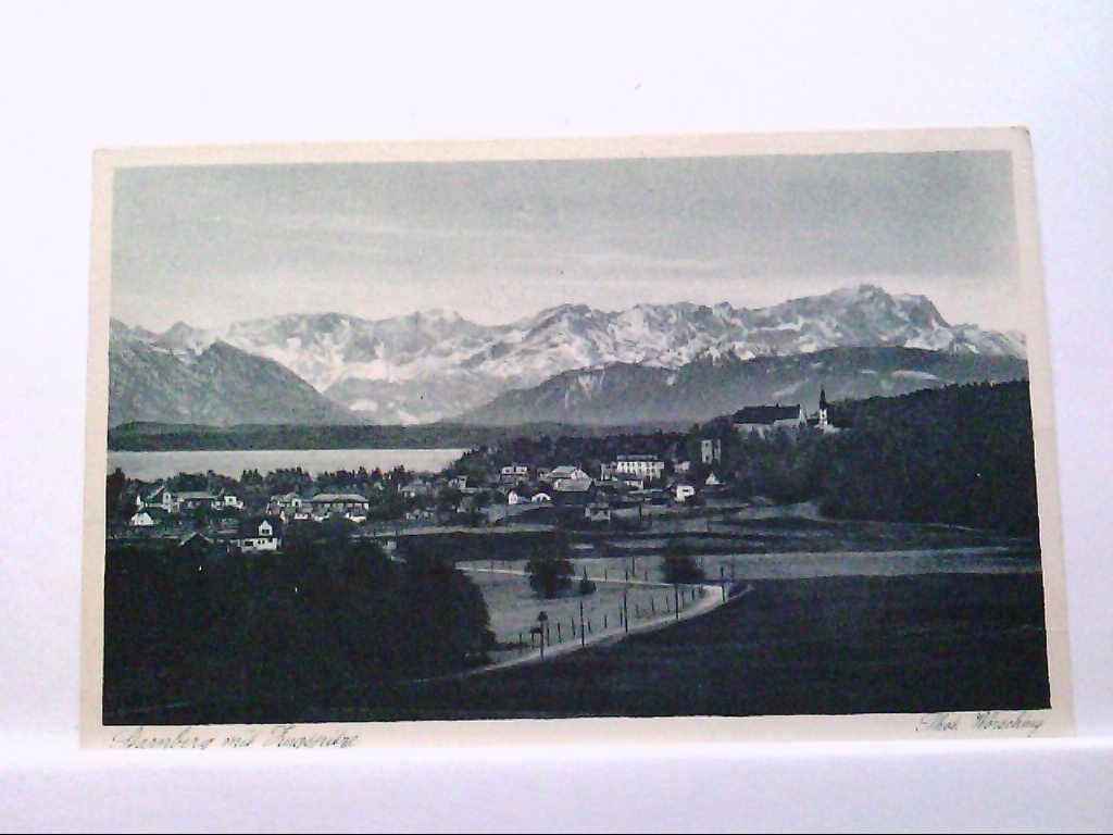 AK Starnberg / Bayern mit Zugspitze, Panorama.
