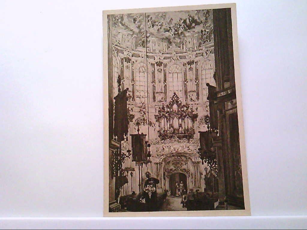 AK Ettal in Bayern, Kirche zu Ettal mit Orgel, Ad. v. Menzel.