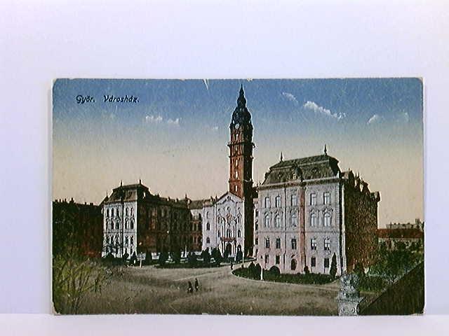 AK Györ, Vdroshdz; coloriert; Ungarn; gelaufen 1929