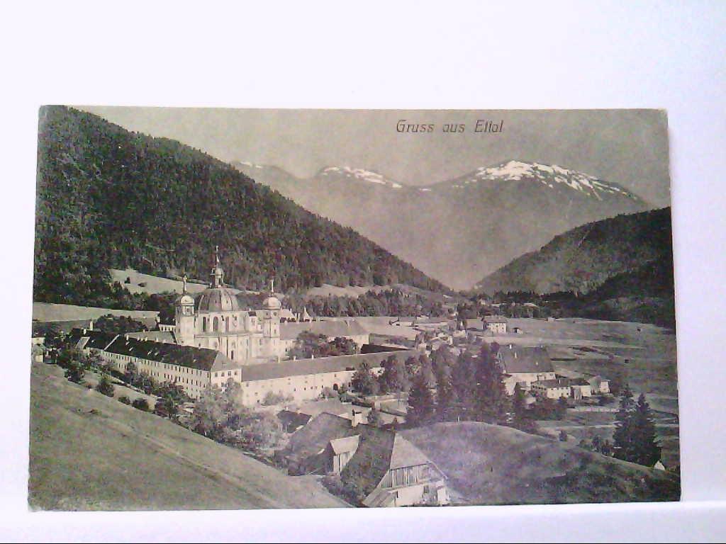 AK Ettal in Bayern, Gruss aus Ettal, Gesamtansicht mit Kloster.