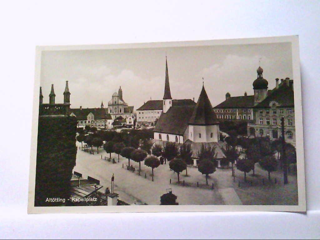 AK Altötting in Bayern, Kapellplatz, Echte Photographie.