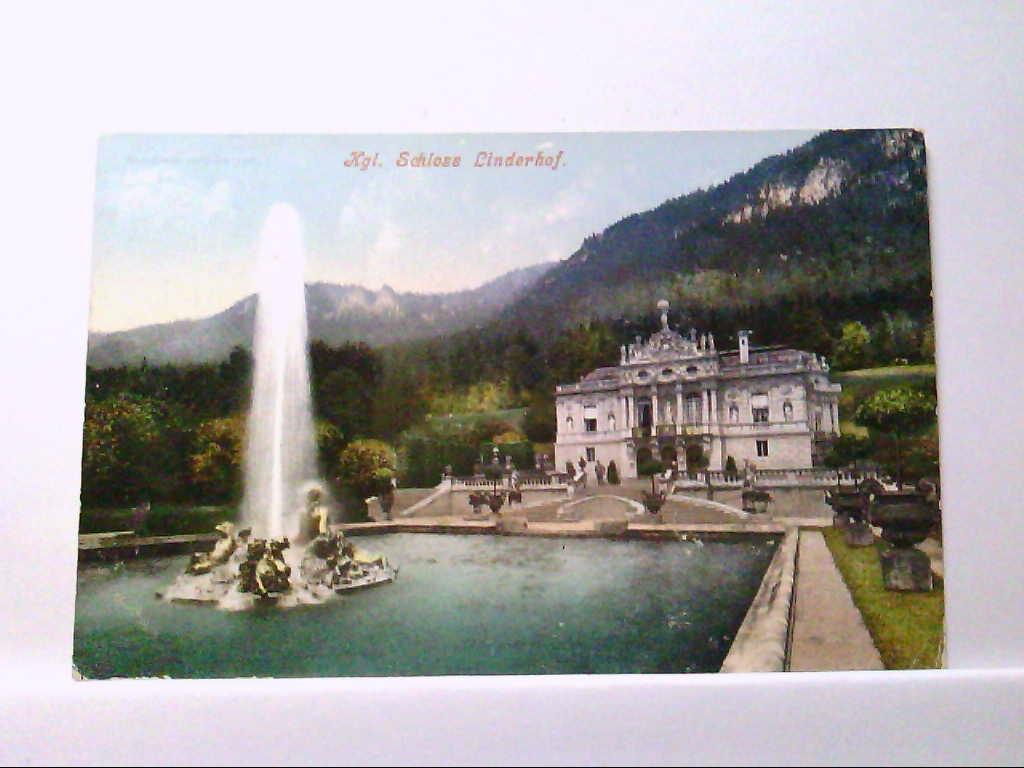 AK Ettal in Bayern, Kgl. Schloss Linderhof.