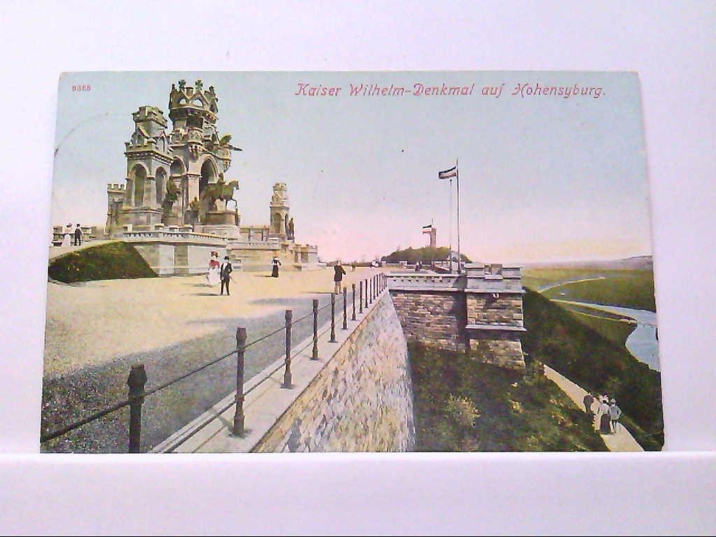 AK Dortmund, Kaiser  Wilhelm - Denkmal auf Hohensyburg, Panorama.