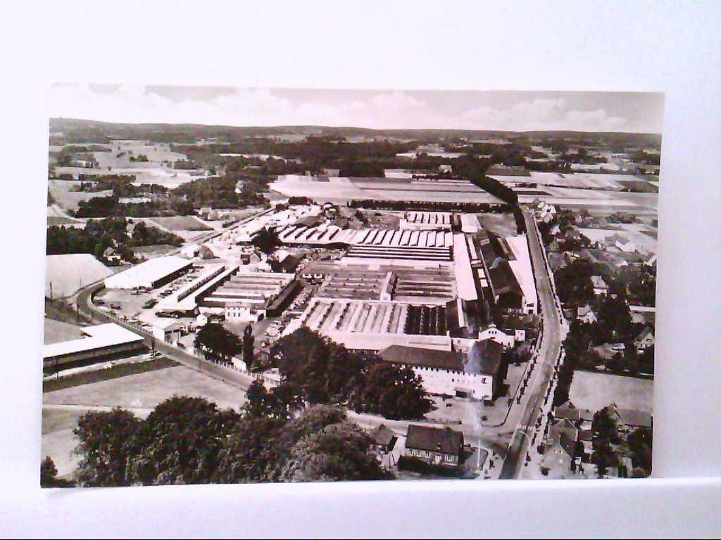AK Harsewinkel / Westfalen, Luftbild, Europas größte Spezialfabrik für Mähdrescher, Gebr, Claas.