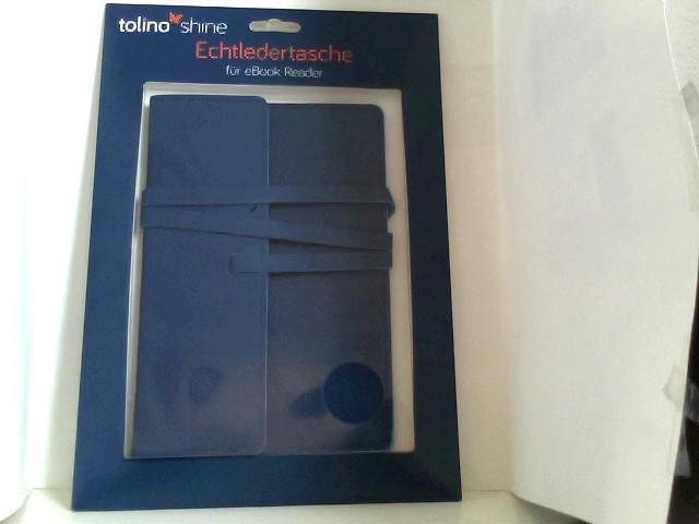 o. A.: tolino shine Echtledertasche für eBook Reader (Farbe: blau)