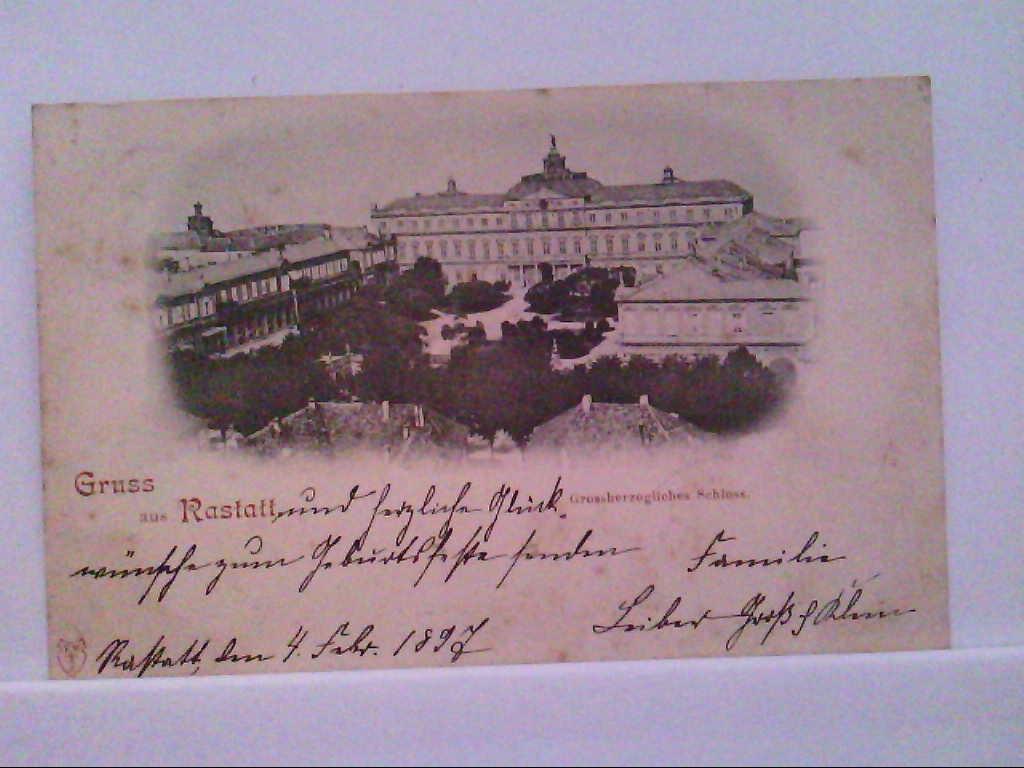 AK Rastatt, Gruss aus Rastatt, Grossherzogliches Schloss, Panorama.