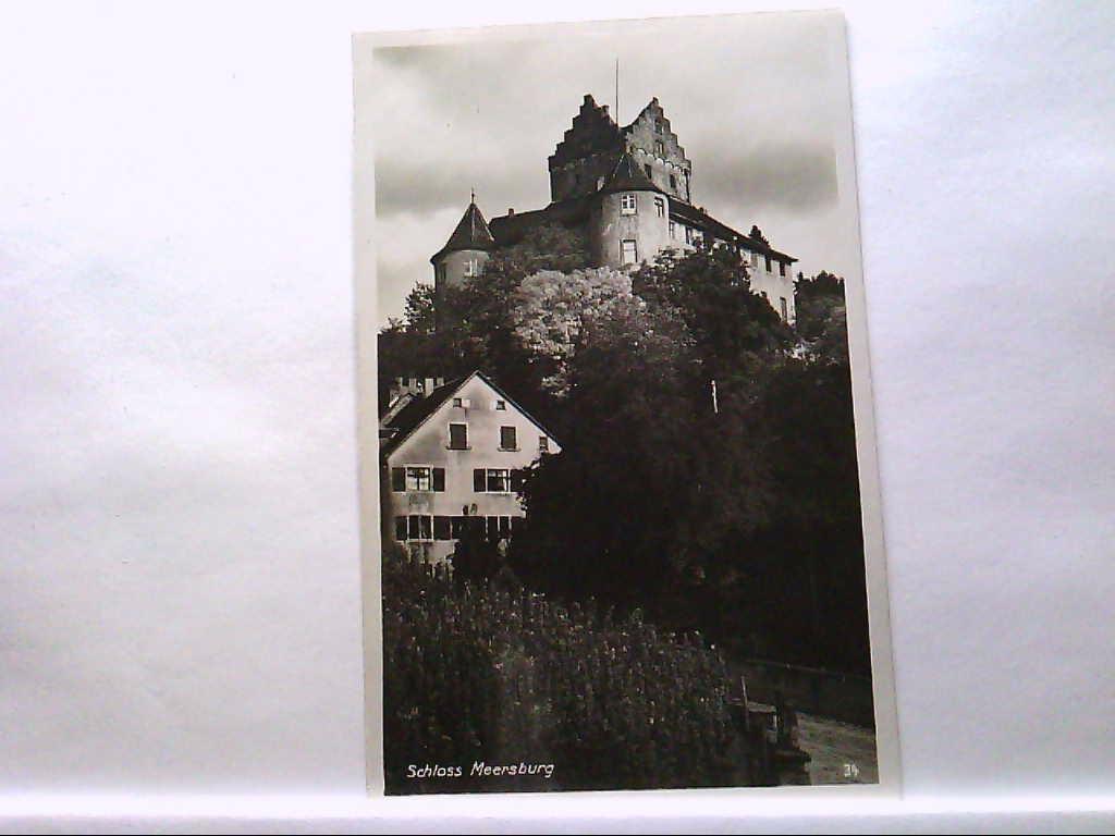 AK Meersburg, Schloss Meersburg, Gebäudeansicht.