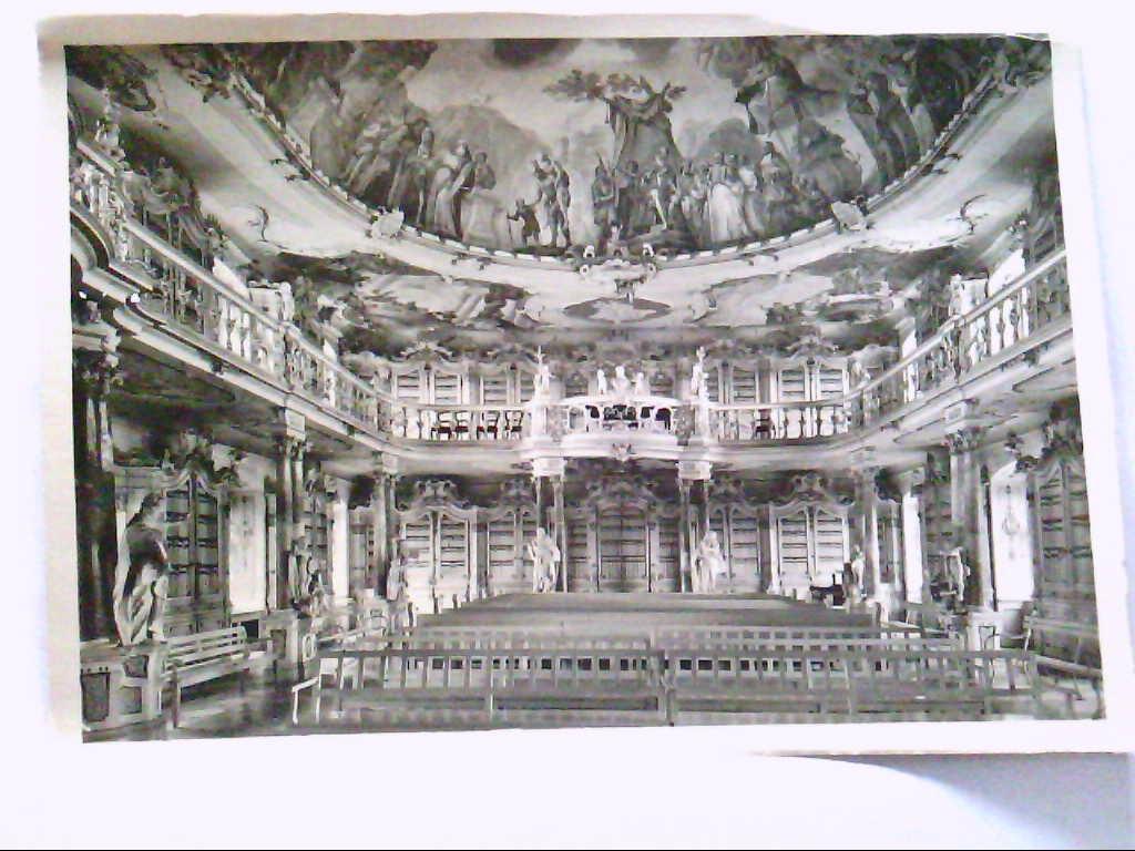 AK Schussenried in Oberschwaben, Bibliothek des ehem. Prämonstratenserklosters.