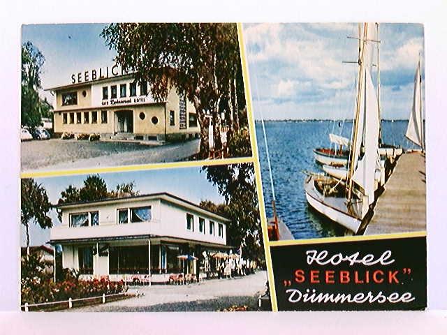 Mehrbild-AK Dümmersee, Hotel Seeblick; 3 versch. Ansichten; ungelaufen, ca. 1970