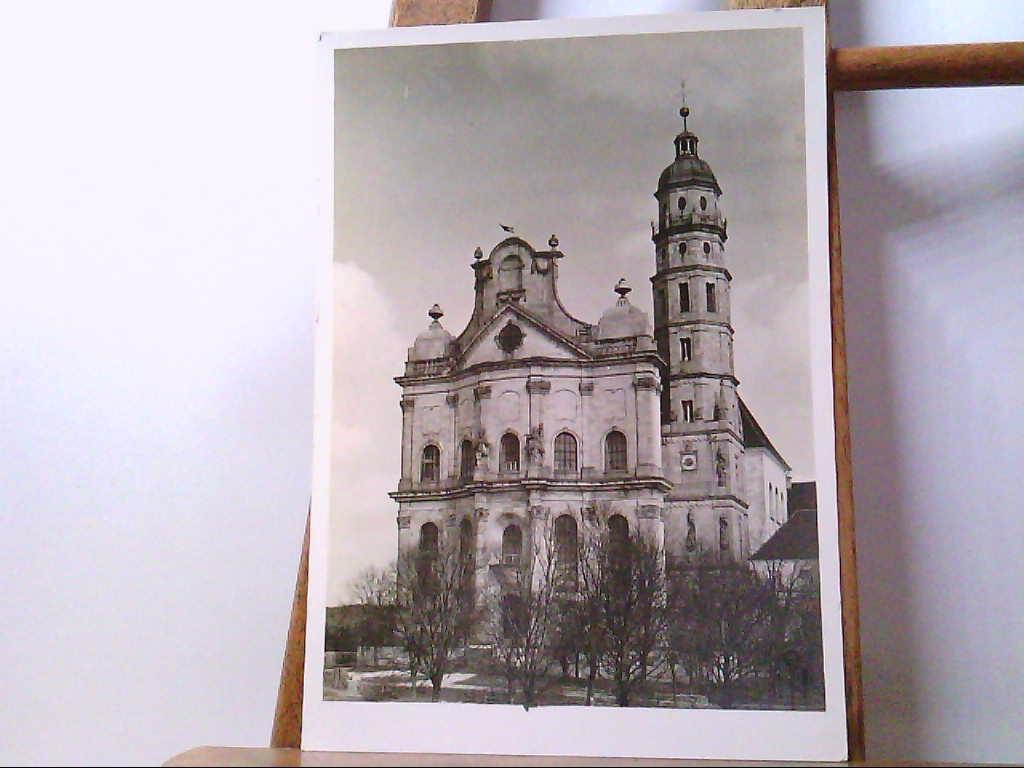 AK Neresheim, Blick auf die Abtei Neresheim, Fassade, Echt Foto.
