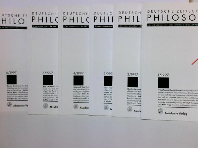 Diverse: Konvolut: 6 Hefte 1997 Deutsche Zeitschrift für Philosophie : Zweimonatsschrift der internationalen philosophischen Forschung
