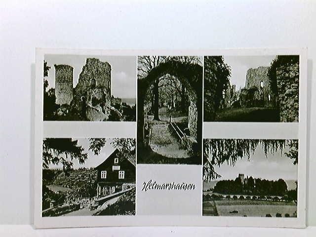 Mehrbild-AK Helmarshausen; 5 Ansichten Krukenburg; gelaufen 1961