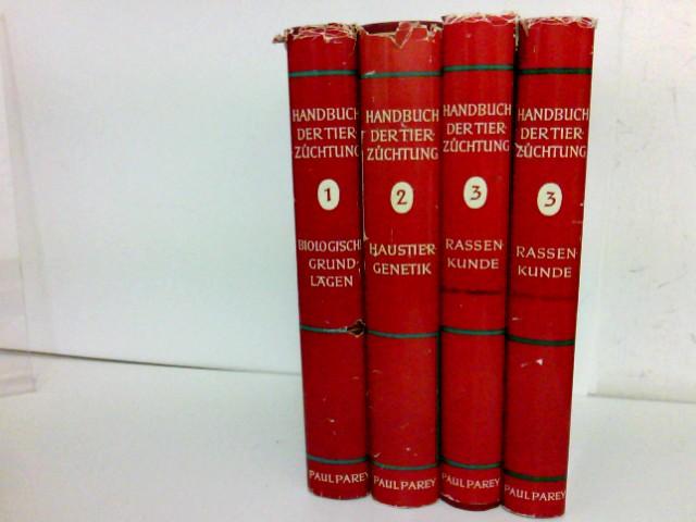 Handbuch der Tierzüchtung. 3 Bände in 4 Büchern. Band 1: Biologische Grundlagen der tierischen Leistungen; Band 2: Haustiergenetik; Band 3: Rassenkunde (1. und 2. Halbband)