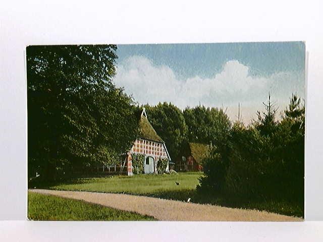 """AK """"Sommerzeit"""" Bauernhaus in Niedersachsen; Kaiserl. Marine 7. Kriegskompagnie II. Matr.-Art.Abtlg.; gelaufen 1917"""