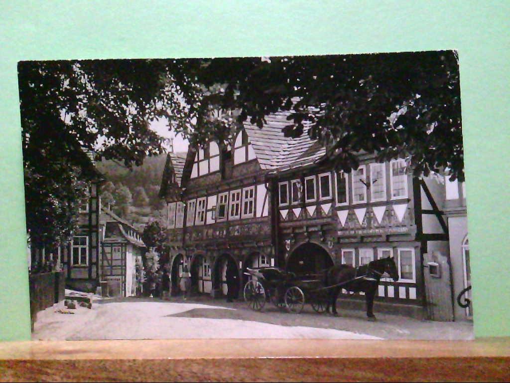 AK Schwalenberg i. L., Blick auf alte Fachwerkhäuser, Strassenpartie.