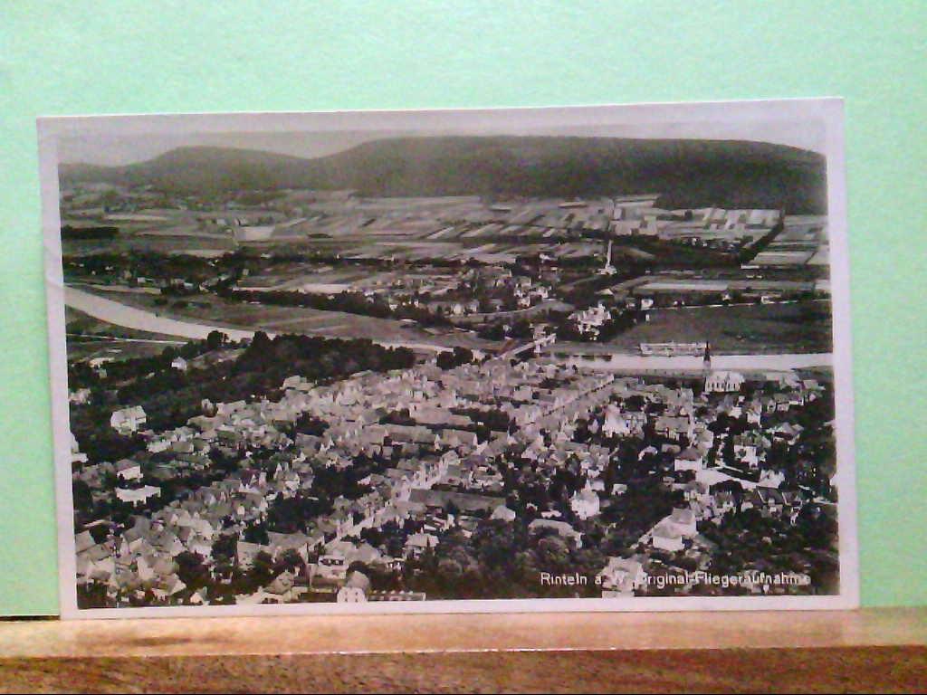 AK Rinteln an der Weser, Original - Flieger - Aufnahme, Panoramaansicht.