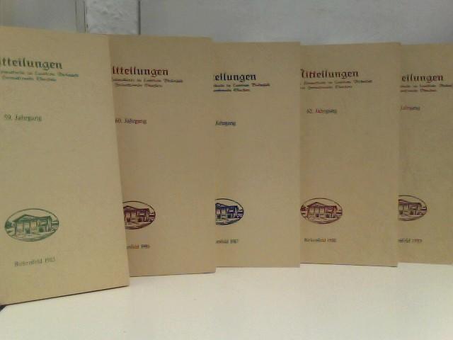 """Konvolut von 6 Heften """"Mitteilungen des Vereins für Heimatkunde im Landkreis Birkenfeld"""" (1984- 1989)"""
