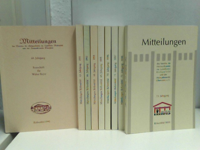 """Konvolut von 9 Heften """"Mitteilungen des Vereins für Heimatkunde im Landkreis Birkenfeld"""" (1990  - 1999 ohne 1993)"""
