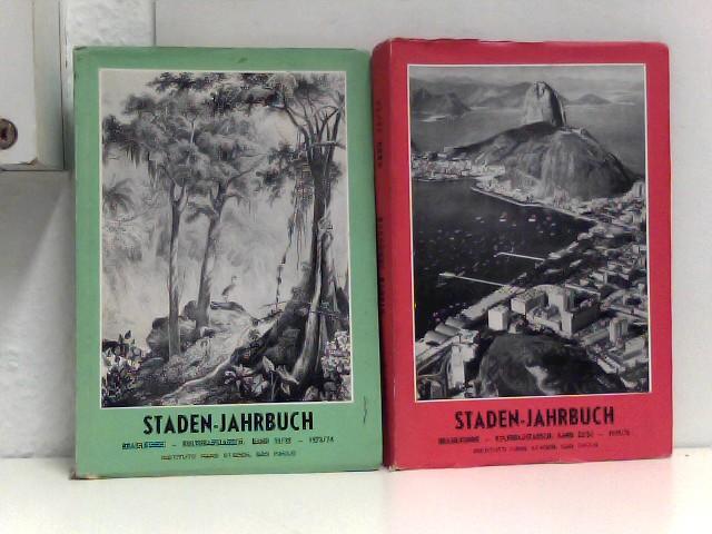 Egon Schaden: Konvolut: 2 Exemplare Staden-Jahrbuch (Band 21/22 - 1973/74, Band 23/24 - 1976/76) Brasilkunde und Kulturaustausch.