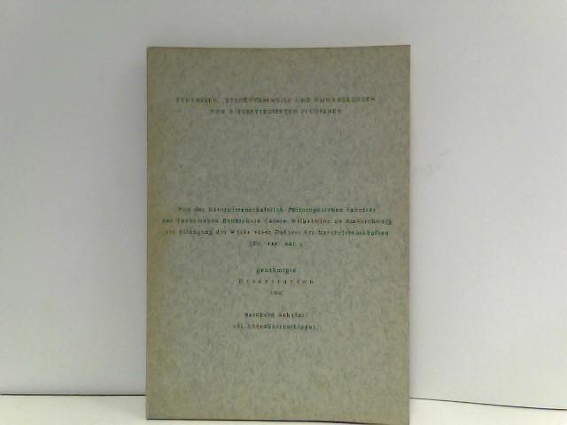 Synthesen, Strukturbeweise und Umwandlungen von 9-substituiterten Fluorenen - Dissertation von Bernhard Schäfer aus Lüdenhausen (Lippe)