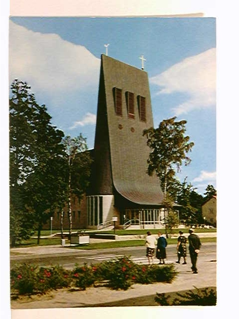AK Espelkamp, Thomaskirche; ungelaufen, geschrieben 1971