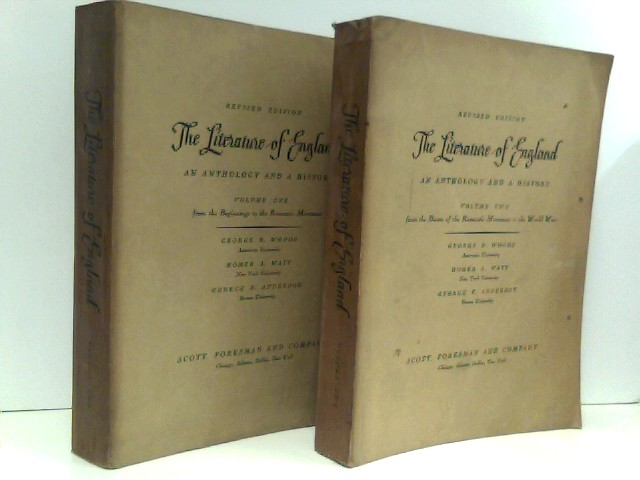 Literature of England - An anthology and a history (2 Bände).