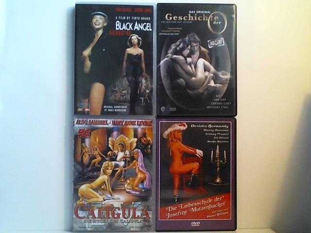 FSK-18 Paket: 4 DVDs: Black Angel (Brass), Geschichte der O (Jaeckin, Kier, Clery), Die Liebesschule der Josefine Mutzenbacher, Caligula 4 (Die Huren des C.)