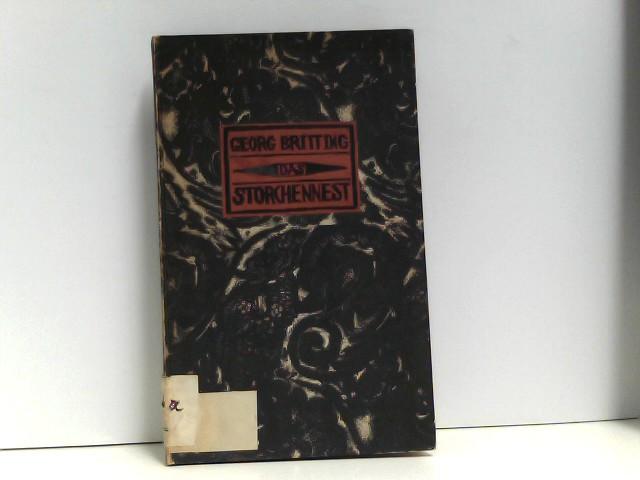 Storchennest. Eine Komödie. Mit einem von Josef Achmann geschnittenen Titel und Deckelschildchen.
