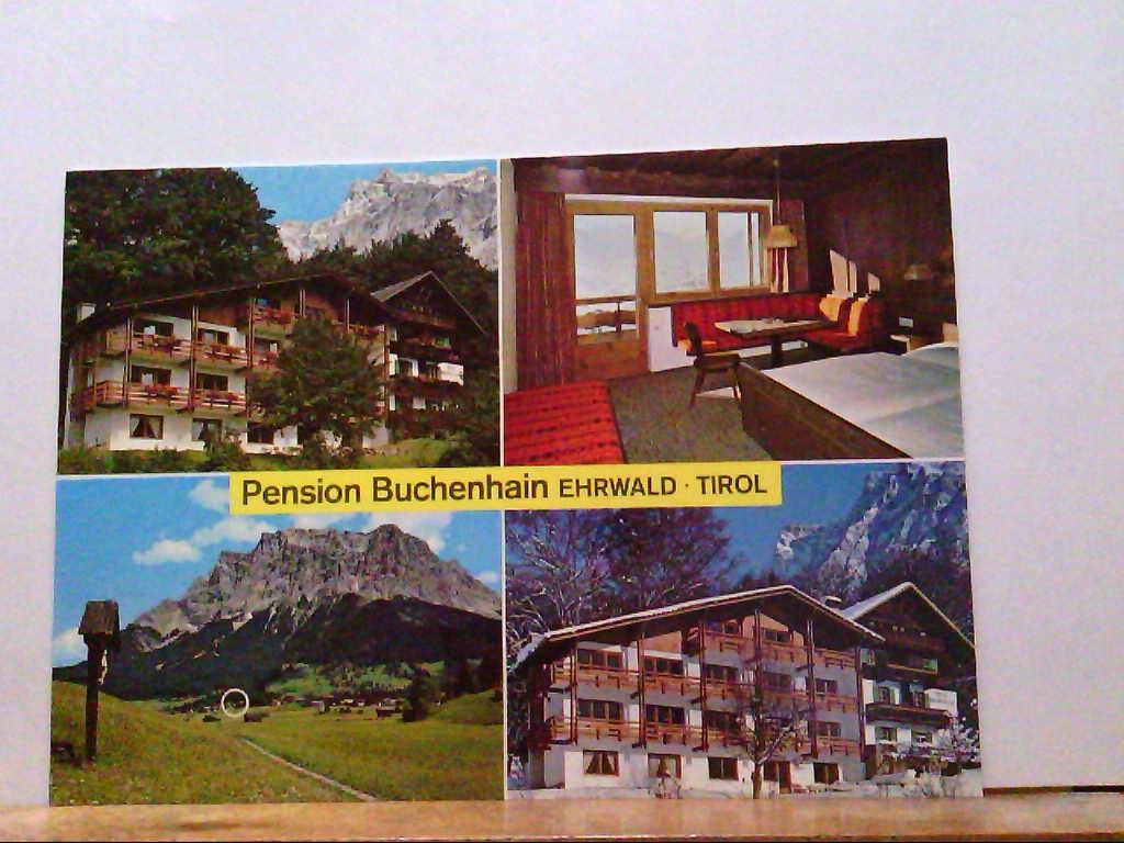 AK Ehrwald / Tirol / Österreich, Pension Buchenhain, Mehrbildkarte mit 4 Abb.