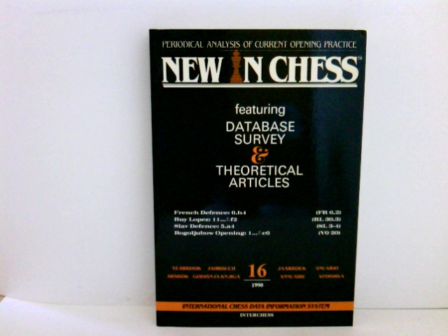 NEW IN CHESS FEATURING: DATABASE SURVEY & THEORETICAL ARTICLES 16.