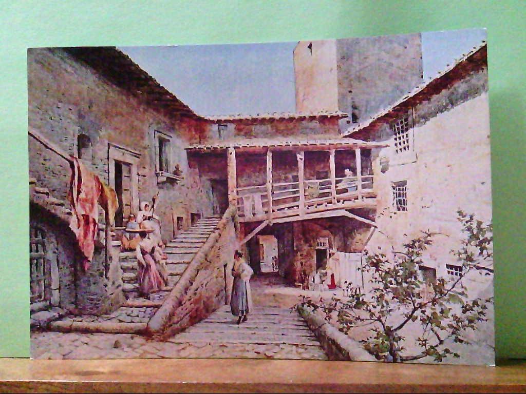 """AK Rom / Italien / Roma, Künstlerkarte nach einem Gemälde von Roesler Franz. """" Roma Sparita  """"."""
