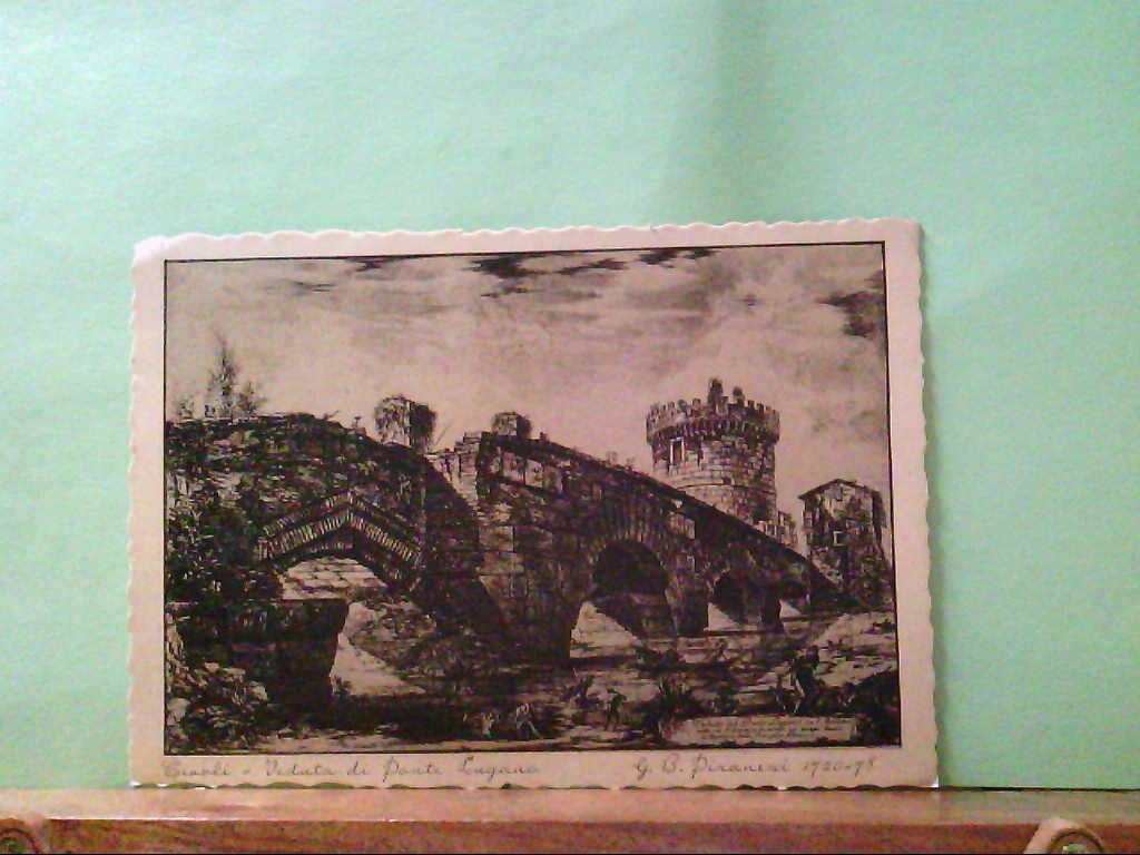 AK Tivoli / Italien, Veduta di Ponte Laguna, Künstlerkarte nach einem Bild von G.B. Piranesi.