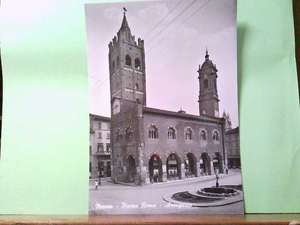 AK Monza / Italien, Piazza Roma - Arengario, Gebäudeansicht.