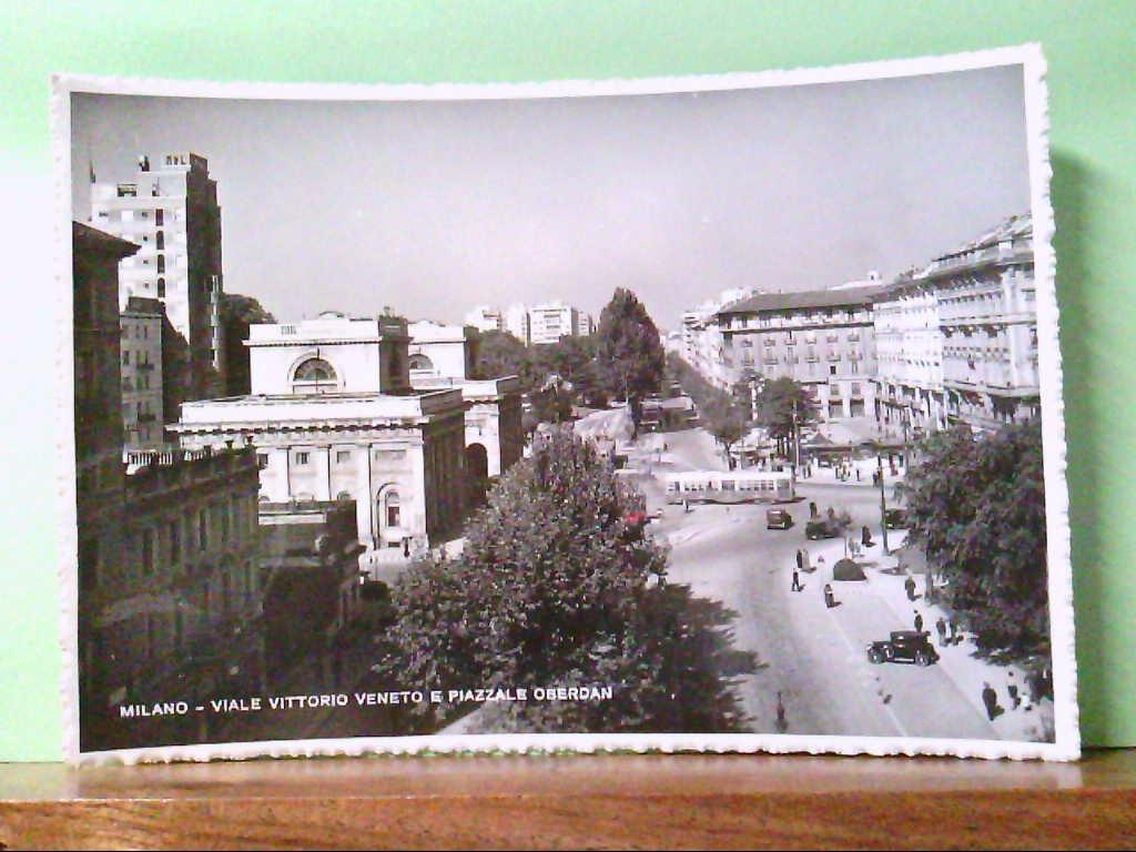 AK Milano / Italien, Viale Vittoria Veneto e Piazzale Oberdan.