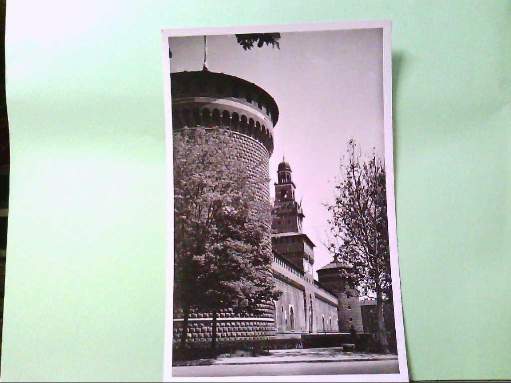 AK Milano / Italien, Castello Sforzesco, Gebäudeansicht.