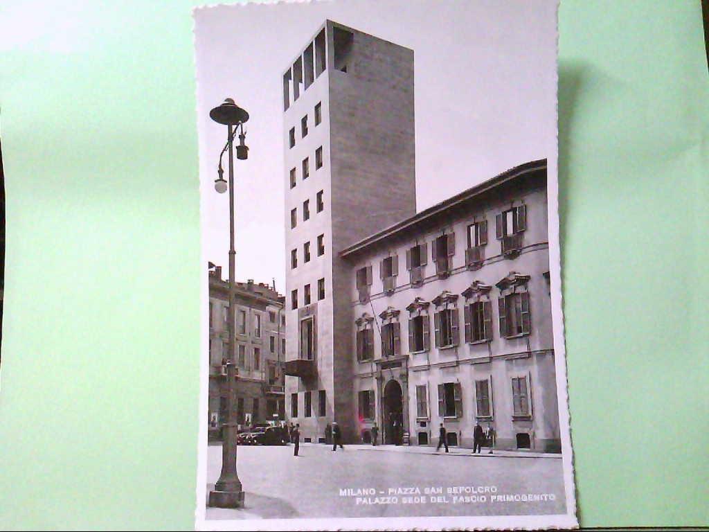 AK Milano / Italien, Piazza San Sepolcro - Palazza Sede del Fascio Primogenito.
