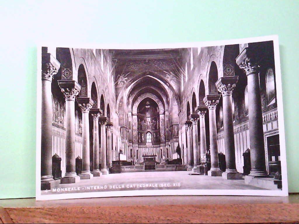 AK Monreale / Italien, Interno Della Cattedralle ( Sec XII ), Innenansicht.