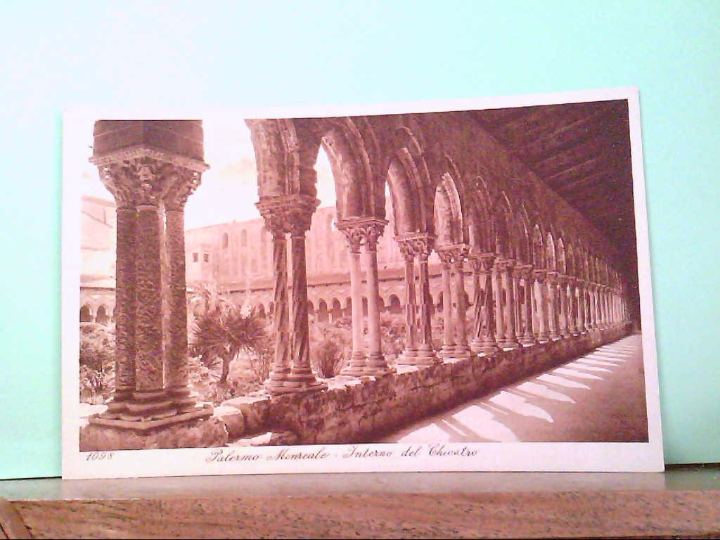 AK Palermo - Monreale / Italien, Interno del Chiostro, Gebäudeansicht.