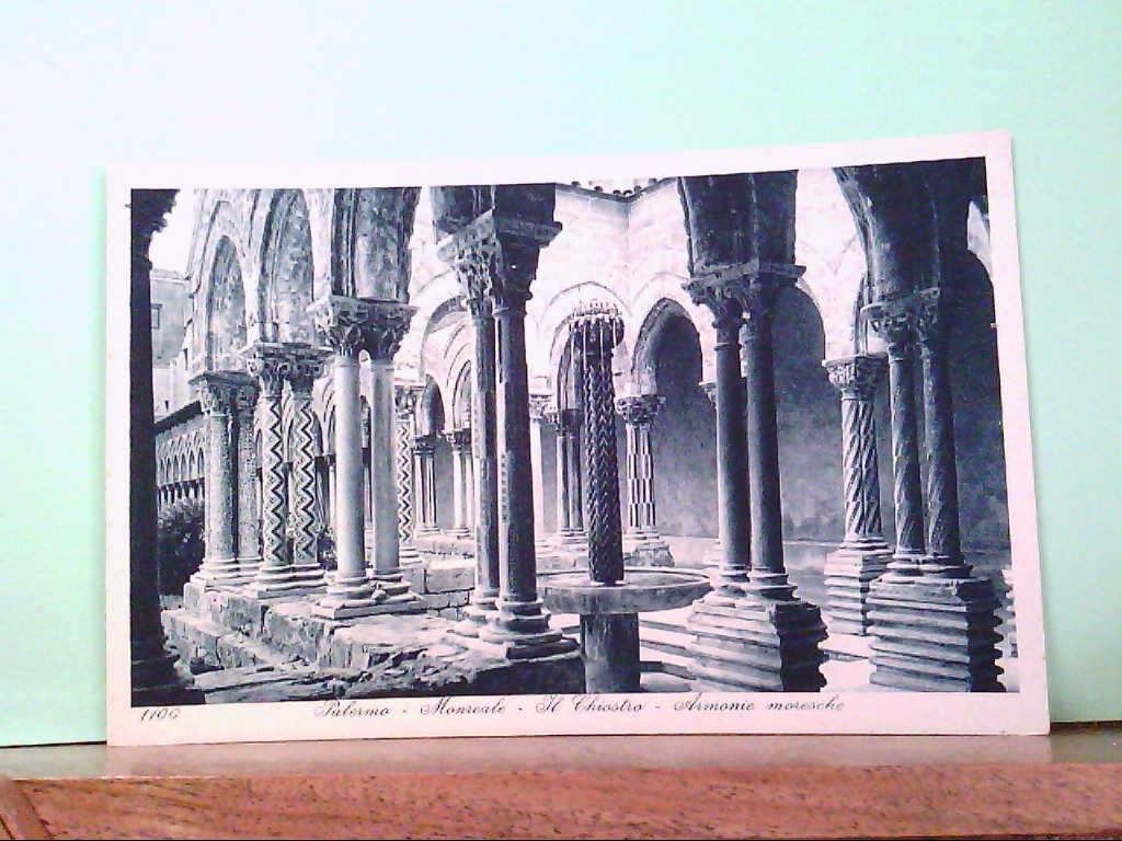 AK Palermo - Monreale / Italien, Il Chiostro - Armonie moresche, Gebäudeansicht.