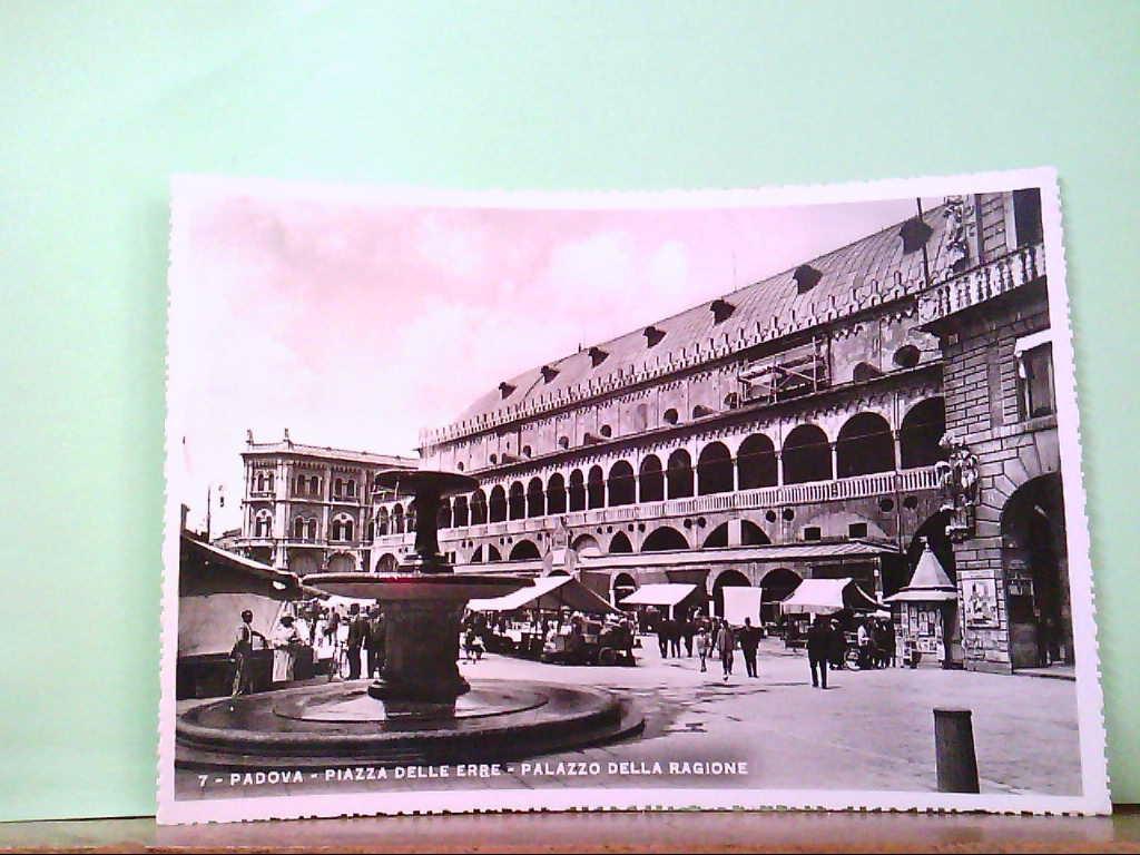 AK Padova / Italien, Piazza Delle Erre - Palazzo Della Ragione, Markttreiben.