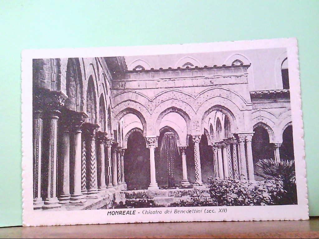 AK Monreale / Italien, Chiostro dei Benedettini ( sec. XII ), Gebäudeansicht.