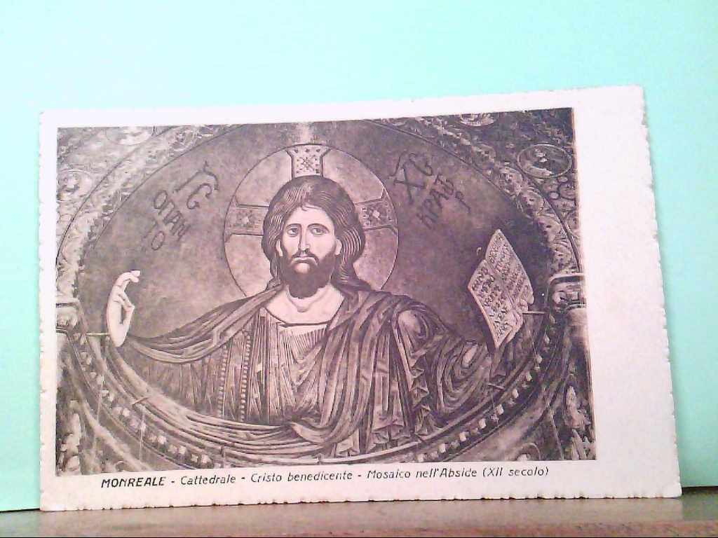 AK Monreale / Italien - Cattedrale - Cristo benedicente - Mosaico nell
