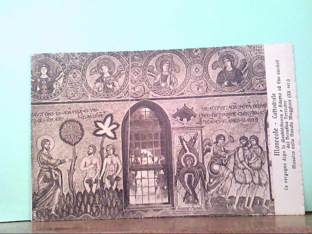 AK Monreale / Italien, Cattedrale - La vergogna dopa la disubbidienza a Adamo ed Eva cacciati dal...