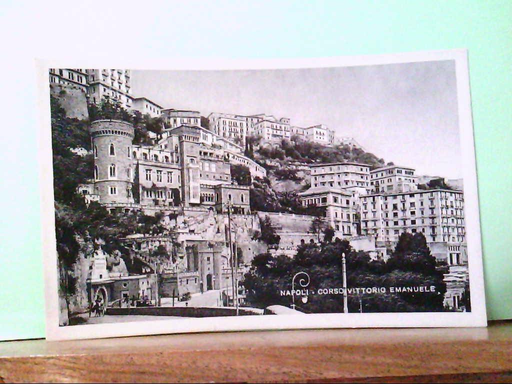 AK Napoli / Italien, Corso Vittorio Emanuelle, Strassenpartie.
