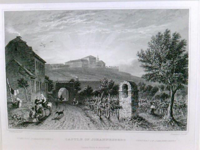 Castle of Johannisberg, Schloss Johannisberg, Chateau de Johannisberg, im Passepartout, in Folie verpackt,