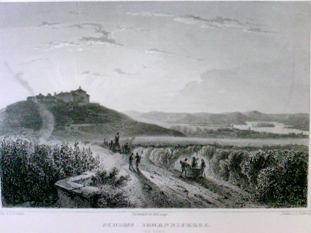 Schloss Johannisberg am Rhein, Johannisberg Castle, Le Chateau Johannisberg, im Passepartout,