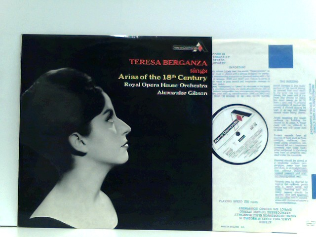 Teresa Berganza,  Orchestra Of The Royal Opera House, Covent Garden,  Alexander Gibson  – Arias Of The 18th Century