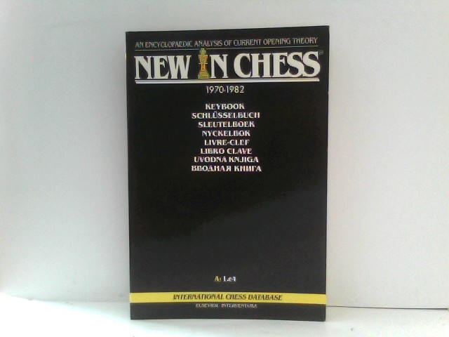 New In Chess Keybook An Encyclopaedic Analysis of Current Opening Theory 1970 - 1982 A: 1.e4 und B: 1.d4 1.c4 1.f3 Paperback Edition Band A