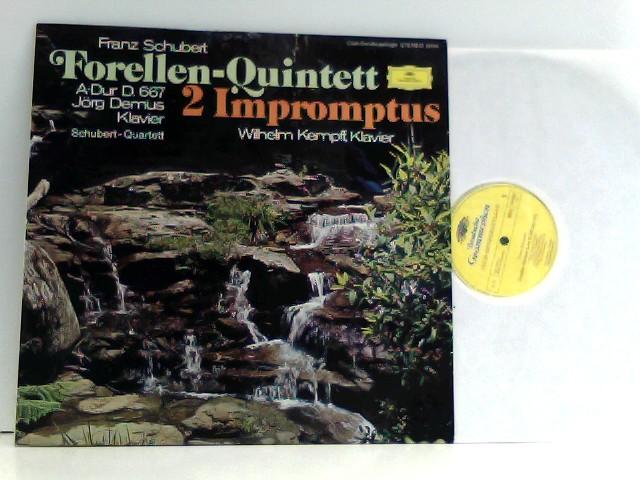 Franz Schubert,  Jörg Demus,  Schubert-Quartett,  Wilhelm Kempff  – Forellen-Quintett - 2 Impromptus, Club Sonderauflage.