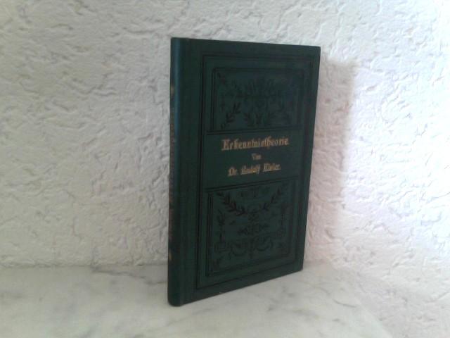 Eisler, Dr. Rudolf: Grundlagen der Erkenntnistheorie